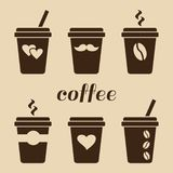 Set of coffee cups. Vector illustration vector illustration