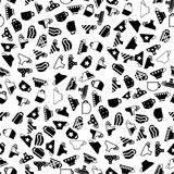 Set of Coffee Cups Seamless Pattern Stock Image