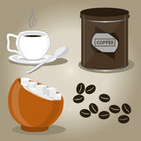 Set coffee cups Royalty Free Stock Images