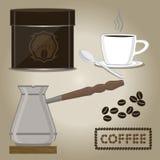 Set coffee cups Stock Photos