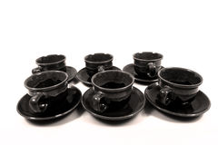 Set of coffee cups Stock Photo