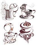 SET of coffee design Royalty Free Stock Photos