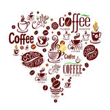 Set of coffee design elements. Royalty Free Stock Photography