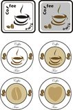 Set of coffee design elements Royalty Free Stock Photo