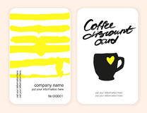 Set of coffee discount cards. template for your design Royalty Free Stock Photo
