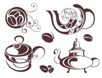 Set of coffee elements Stock Image