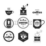 Set of coffee emblems, badges, logos, labels Stock Photos