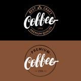 Set of Coffee hand written lettering logo, label, badge, emblem. Stock Photos