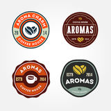 Set of Coffee house logo templates Royalty Free Stock Image