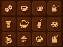 Set of coffee icon Royalty Free Stock Photography