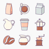 Set of coffee icons royalty free illustration