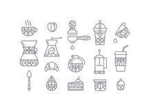 Set coffee icons Royalty Free Stock Photos