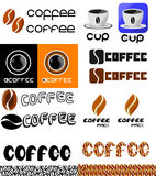 Set of Coffee icons and logos Stock Photography