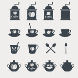 Set of coffee icons. Royalty Free Stock Photo