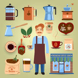 Set Of Coffee Icons Royalty Free Stock Image