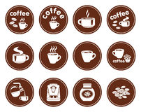Set of coffee icons Stock Photo