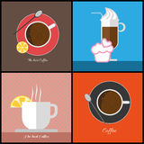 A set of coffee items Royalty Free Stock Photo