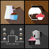 A set of coffee items Royalty Free Stock Photography