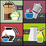 A set of coffee items Stock Photo