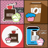 A set of coffee items Stock Photos
