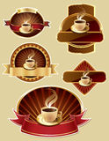 Set of coffee label design Stock Photo