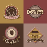 Set of coffee labels, badges and logos for design. Vector illustration vector illustration