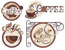 Set of coffee labels Stock Images