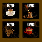 Set of coffee labels Royalty Free Stock Images