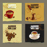 Set of coffee labels Stock Photo
