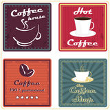 Set of coffee labels or icons in retro style for vintage design Royalty Free Stock Image