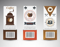 Set of coffee labels. Stock Photo
