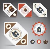 Set of coffee labels. Stock Photography