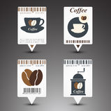 Set of coffee labels. Royalty Free Stock Photography