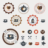 Set of coffee labels. Stock Image
