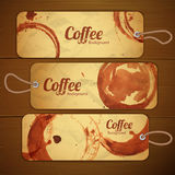 Set of coffee labels Stock Photos