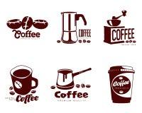 Set coffee logos Stock Images