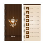 Set of coffee menu Royalty Free Stock Photo