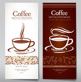 Set of coffee menu. Stock Photography