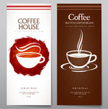 Set of coffee menu. Stock Photos