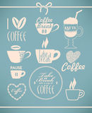 Set of coffee Royalty Free Stock Images