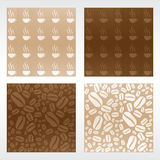 Coffee Patterns Royalty Free Stock Images