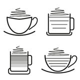 Set of coffee pictograms Royalty Free Stock Images