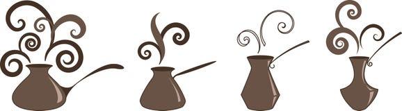 A set of coffee pots Stock Photos