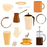 Set of coffee related icons Royalty Free Stock Photography