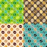 Set of coffee seamless textures Stock Image