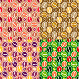 Set of coffee seamless textures Stock Images