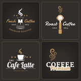Set of coffee shop badges and labels Royalty Free Stock Photo