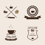 Set of Coffee Shop Logo Stock Images