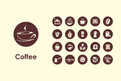 Set of coffee simple icons Royalty Free Stock Image