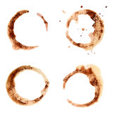 Set of coffee stains for design. Royalty Free Stock Images